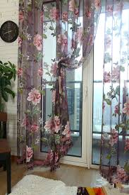 aliexpress com buy xyzls luxury and noble sheer curtains purple