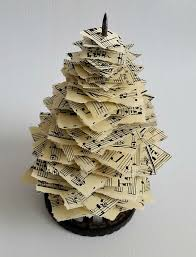 vintage paper spike u0026 sheet music christmas trees hometalk