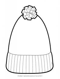 awesome and also beautiful winter hat coloring page intended to