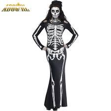 vire costumes adogirl women black skull performance clothing new