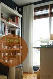 Homemade Curtains Without Sewing Diy How To Hem No Sew And Add Stripes To Curtains Using Paint