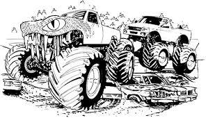 monster jam truck sketch coloring pages color luna