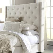 king upholstered headboard with nailhead trim allegro king upholstered wingback headboard winged super wool