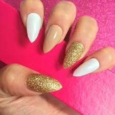 acrylic nails white and gold u2013 popular manicure in the us blog