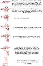 dividing two decimals without a repeating answer