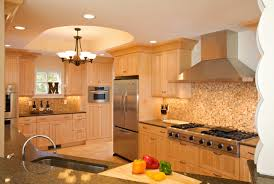 oak cabinets bathroom beach style kitchen design with oak cabinets and mosaic