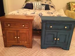 Chalk Paint Colors For Furniture by 80 U0027s Oak Bedroom Nightstand Redone With Annie Sloan Chalk Paint