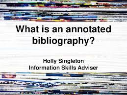 what is an annotated bibliography for student nurses