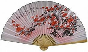 oriental fans wall decor amazon com 35 oriental feng shui wall fan flower fan022 home