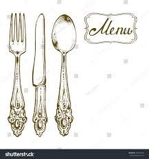 kitchen stuff silverware knife fork spoon stock vector 450782548