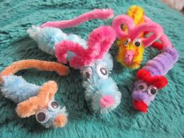 pipe cleaner mice mermaids makings