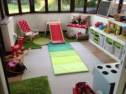 children u0027s playroom woodland theme indoor slide diy log