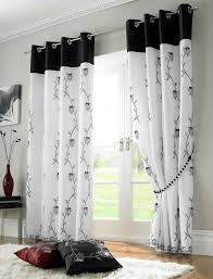 Black And White And Red Bedroom - magnificent black and white window curtains and black white and