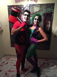 my wife and i joker harley cross dress for early halloween party