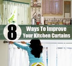 kitchen curtain ideas diy 8 ways to improve your kitchen curtains diy home creative