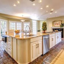 Kitchen Backsplash With Granite Countertops Granite Countertop Open Plan Kitchen Or Not Butcher Block