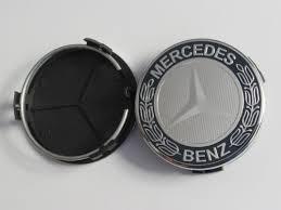 mercedes car emblem mercedes 75mm black chrome silver wheel center caps emblems