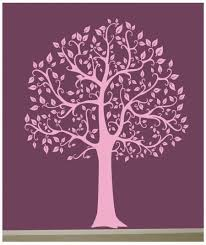 White Tree Wall Decal For Nursery by Wall Decal Big Tree Decor Art Sticker Mural In Black White Pink
