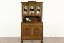Antique Stained Glass Door by Sold Oak Scandinavian 1910 Antique Sideboard U0026 China Cabinet