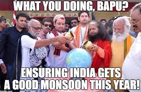 Monsoon Meme - memes don t sweat indian babas have a divine solution for global