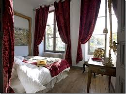 Burgundy Velvet Curtains The Velvet Curtains Mixed With The White Bedding And Simple