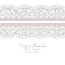 Wedding Invite Template Lace Ornament Wedding Invitation Template Vector Free Download