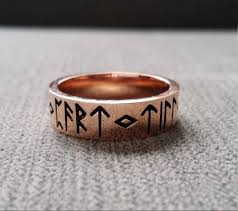 rustic mens wedding bands rustic mens wedding band ring nordic runes till do we part