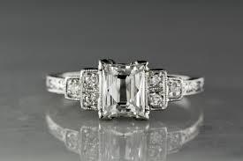 rare 1 10 carat french emerald cut diamond in a 1920s art deco