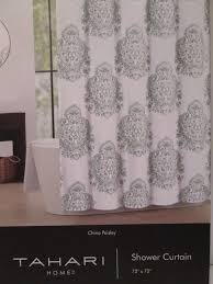 Gray Paisley Shower Curtain by Home U0026 Garden Bath Find Tahari Products Online At Storemeister