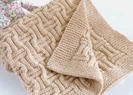 Knitted Chandelier Earrings Pattern Knitting Pattern Baby Blanket Reversible Basketweave Blanket