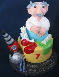 blissfully sweet mad science birthday cake
