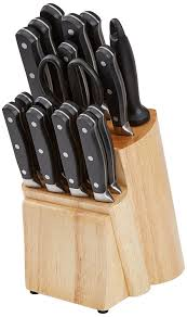 kitchen knife collection amazonbasics premium 18 knife block set ca home