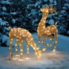 lawn reindeer with lights clear acrylic reindeer figurines google search decorated