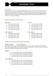 Vorlage Lorem Ipsum Cv Vorlage In Der Tabelle Mit Linien Braun Cv Bewerbung