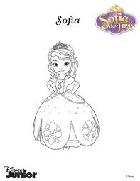 princess sofia coloring page color her beautiful dress nice
