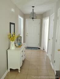 entryway before and after beige to greige with behr paint