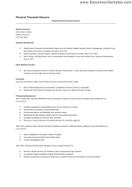 student physical therapist resume resume resume objective