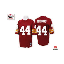 riggins mitchell and ness washington redskins no 44 authentic