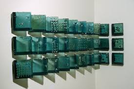custom made architectural glass cast panels wall installation by