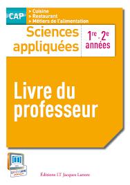 livre cap cuisine sciences appliquées 1re et 2e ées cap cuisine et restaurant