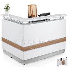 White Salon Reception Desk Office Furniture L Shaped Counter White Modern Salon Reception