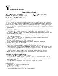 Maintenance Description For Resume Medical Office Manager Job Description For Resume Free Resume