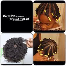 flat twistout rod set on kids natural hair youtube