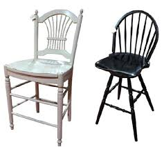 stools oak bar stool from notonthehighstreetcom high back wooden