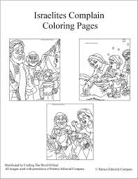91 coloring israelites manna explore tabernacle
