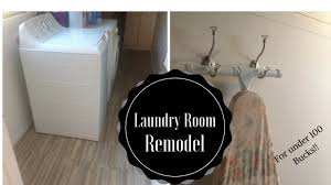 laundry room remodel for under 100 youtube