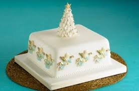 Christmas Cake Decorations With Royal Icing by Angel Christmas Cake Christmas Cake Recipe Goodtoknow
