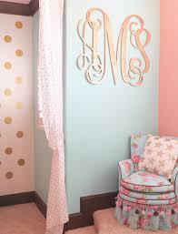 nursery wall art decor caden lane large wood monogram in room