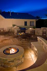 Stone Patio With Fire Pit 42 Backyard And Patio Fire Pit Ideas