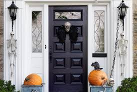 spooky halloween decorations for your front door real simple